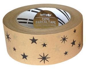 Eco Parcel Tape : Stars - ribbon & wrap