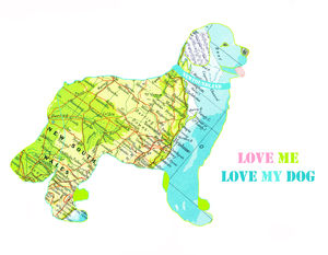 Personalised Newfoundland Dog Print