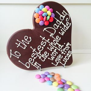Father's Day Personalised Chocolate Heart