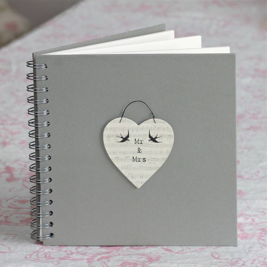 mr and mrs wedding planner guest book by chapel cards