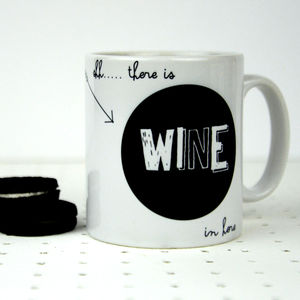 'Shh there is wine in here' Mug - mugs