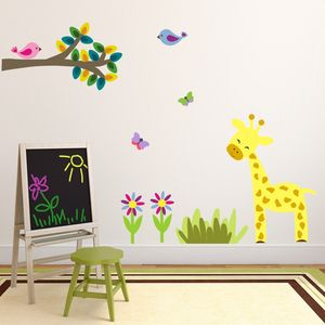Jungle Giraffe And Branch Wall Sticker