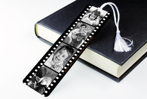 Personalised Photograph Reel Metal Book Mark - shop by price