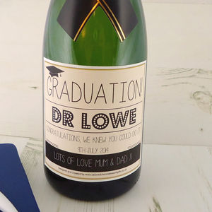 Graduation Personalised Champagne Label - wines, beers & spirits
