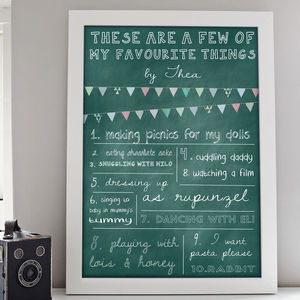Favourite Things Print - baby's room