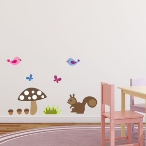 Woodland Squirrel Wall Sticker - wall stickers