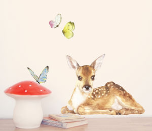 Little Fawn Fabric Wall Stickers - home decorating