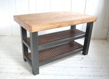 Old Wood Kitchen Island