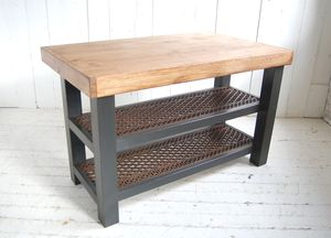 Old Wood Kitchen Island - kitchen