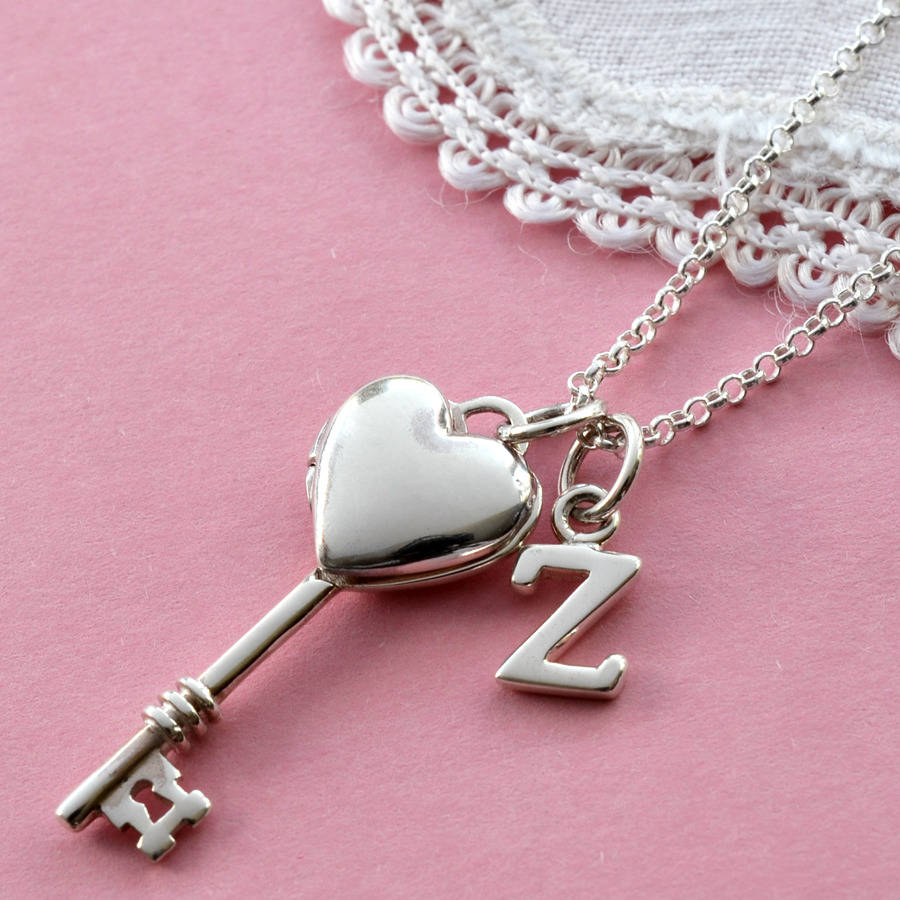 Sterling silver key to my heart locket by martha jackson for The sterling