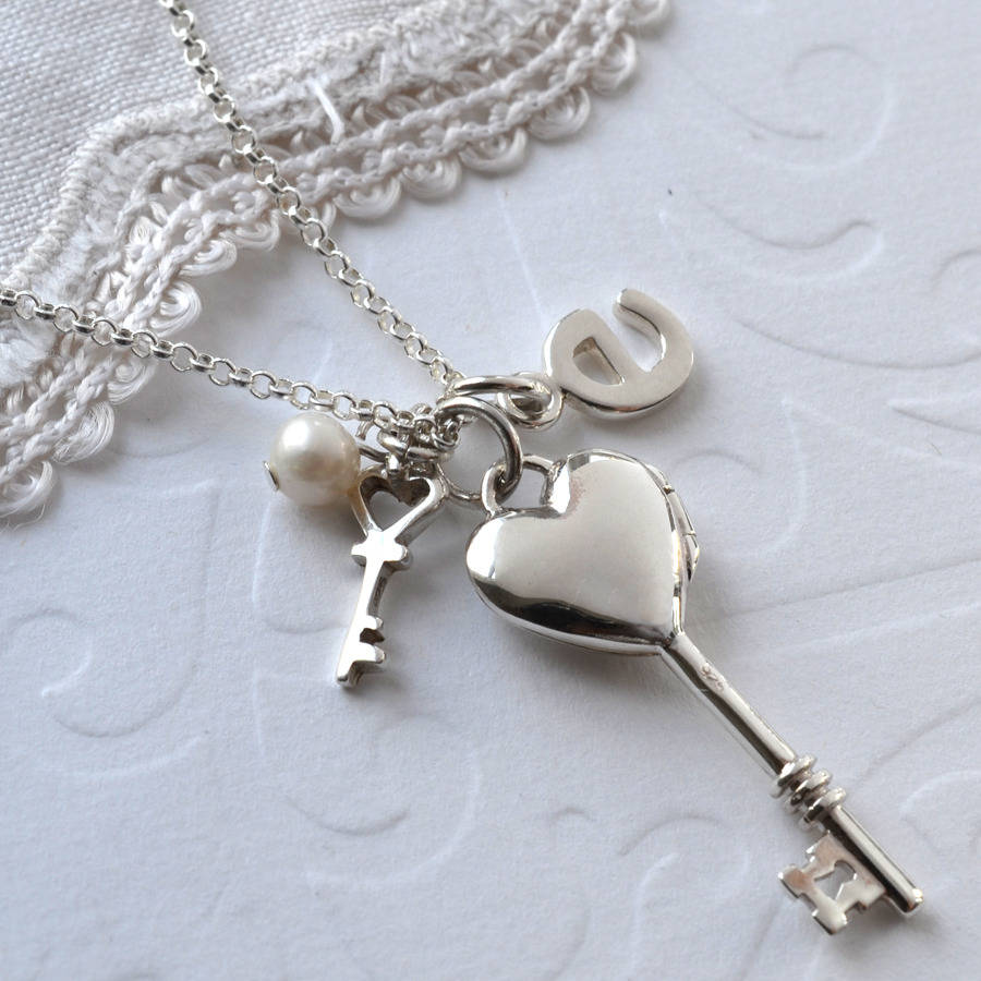 Martha Jackson Sterling Silver Sterling Silver Key To My Heart Locket