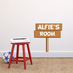 Personalised Wooden Sign Wall Sticker - wall stickers