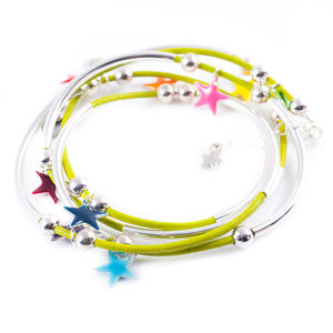 Bright Enamel Star Noodle Bracelet - more