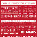 Personalised 'Learnt From My Family' Print - Red