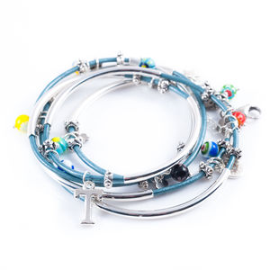 Millefiori Glass Bead Noodle Wrap Bracelet - children's accessories
