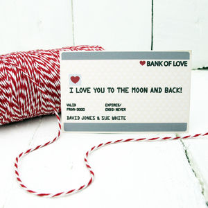 Personalised Mini Credit Card Gift Card - valentine's cards