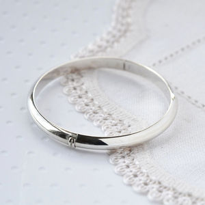 Sterling Silver Christening Bangle - bracelets