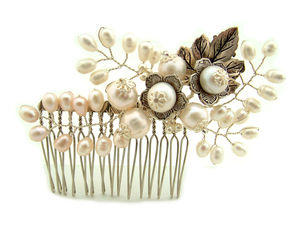 Autumn Acorn Comb - wedding jewellery