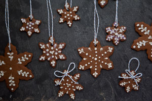 Gingerbread Snowflake Gift Set - christmas parties & entertaining