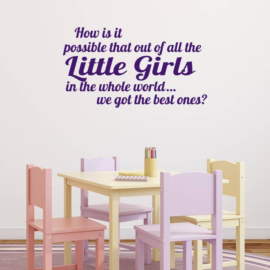 best girls wall sticker by mirrorin notonthehighstreet com