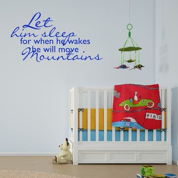 Boys Nursery Wall Sticker - Brilliant Blue