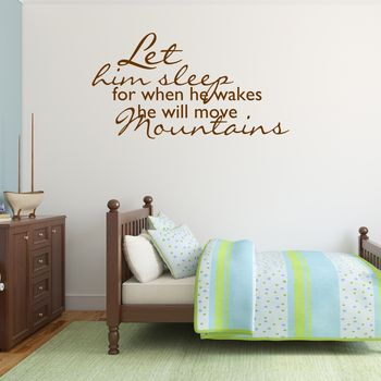 Boys Nursery Wall Sticker - Brown
