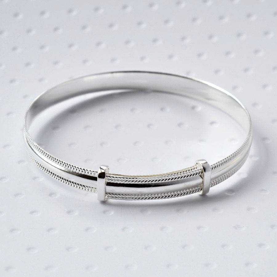 Sterling Silver Baby Bracelet By Martha Jackson Sterling