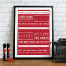 Bespoke 'Things I Learnt From My Family' Print  - Red & White