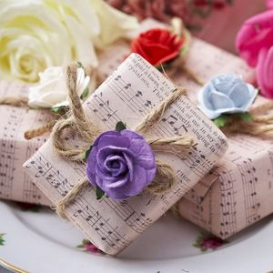 Lavender Fields Purple Rose Soap Parcel - wedding favours