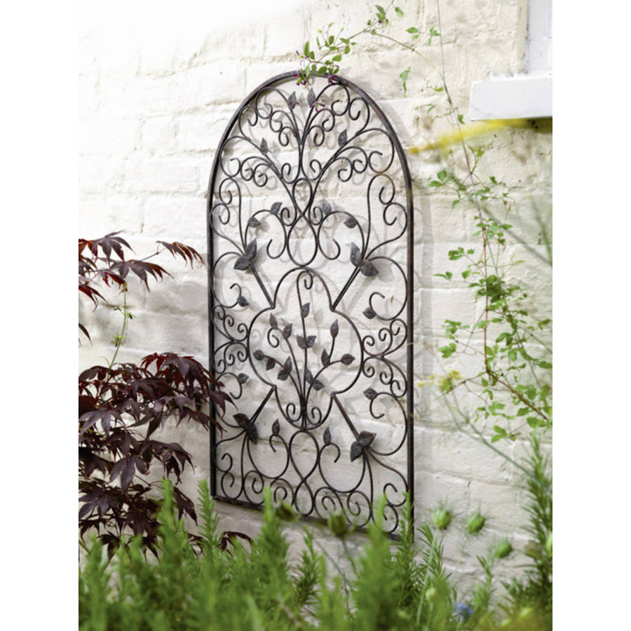Spanish metal arch wall art sculpture by garden selections for Outside wall art