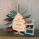 Personalised Christmas Tree Card Rack Display