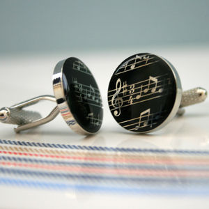 Musical Notes Cufflinks - men's accessories