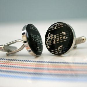 Musical Notes Cufflinks - men's accessories