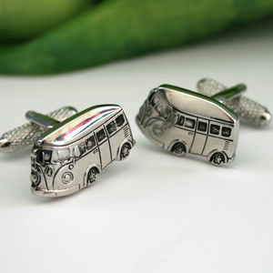 Camper Van Cufflinks Chrome - men's jewellery