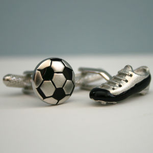 Football And Boot Cufflinks - cufflinks