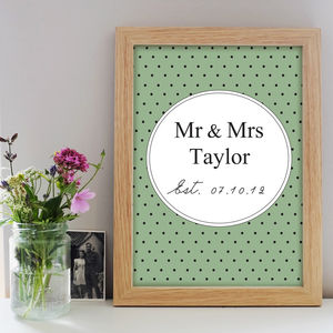 Mr & Mrs Title Print