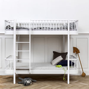 Scandinavian White Or Oak/White Bunk Bed - children's room