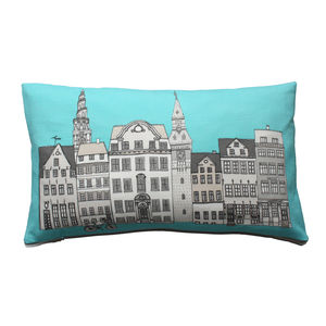 Copenhagen Blue Cushion - bedroom
