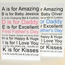 1st Fathers Day Card Personalised
