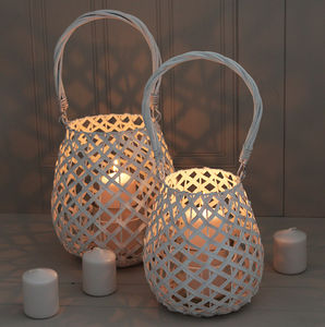 White Basket Lantern - lights & lanterns
