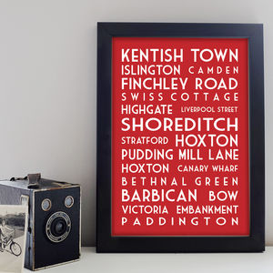 Personalised Destination Print - treasured locations & memories