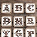Personalised Vintage Style Monogram Coaster