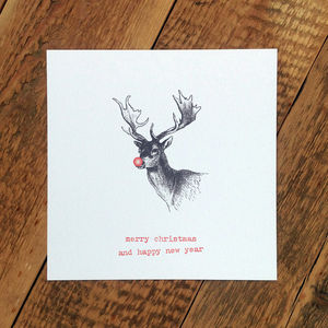 Christmas Card; Rudolph Card - cards