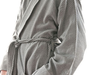 Honeycomb Cotton Bathrobe For Men - bathroom