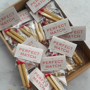 Personalised Matchsticks Wedding Favours - edible favours