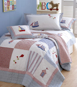 Seaside Theme Patchwork Quilted Bedspread