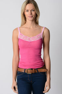 Wide Lace Long Camisole - tops & t-shirts
