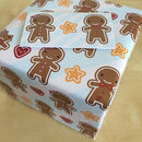 Cookie Cute Gingerbread Man Gift Wrap Set
