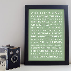 Personalised Memories Print - living & decorating