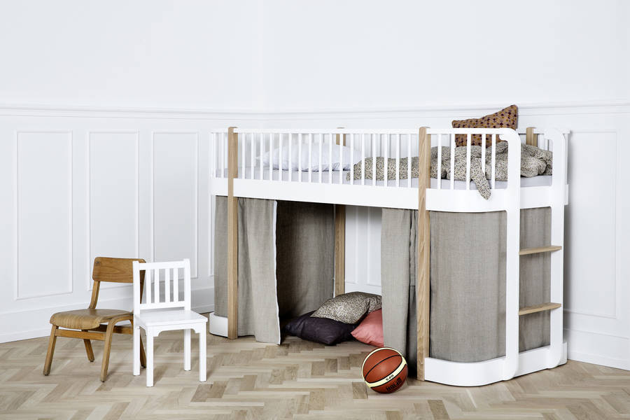 low scandinavian oak loft bed by nubie modern kids. Black Bedroom Furniture Sets. Home Design Ideas